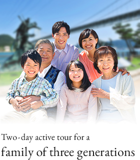 Two-day active tour for a family of three generations