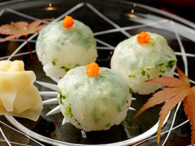 Fugu (blowfish) sushi